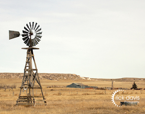 While not as common as the newer steel windmills dotting the northeastern Colorado prairie, there remain several functioning wood frame windmills in the Pawnee National Grasslands.