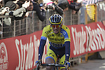 Roman Kreuziger (CZE) Tinkoff Saxo crosses the finish line on Il Campo in Siena at the end of the 2014 Strade Bianche race over the white dusty gravel roads of Tuscany running 200km from San Gimignano to Siena, Italy. 8th March 2014.<br /> Picture: Eoin Clarke www.newsfile.ie