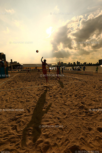The ambience shot, <br /> SEPTEMBER 19, 2015 - Beach Volleyball : <br /> JBV Tour 2015 Tokyo Open <br /> at Odaiba Beach, Tokyo, Japan. <br /> (Photo by Yohei Osada/AFLO SPORT)