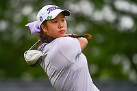Anne Chen (a)(USA) watches her tee shot 1 on during Friday's second round of the 72nd U.S. Women's Open Championship, at Trump National Golf Club, Bedminster, New Jersey. 7/14/2017.<br /> Picture: Golffile | Ken Murray<br /> <br /> <br /> All photo usage must carry mandatory copyright credit (&copy; Golffile | Ken Murray)