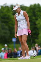 Lexi Thompson (USA) reacts to barely missing her birdie putt on 1 during the round 3 of the KPMG Women's PGA Championship, Hazeltine National, Chaska, Minnesota, USA. 6/22/2019.<br /> Picture: Golffile | Ken Murray<br /> <br /> <br /> All photo usage must carry mandatory copyright credit (© Golffile | Ken Murray)