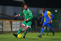 Quba Gordon of Haringey and Jonathan Nzengo of Romford during Romford vs Haringey Borough, Bostik League Division 1 North Football at Ship Lane on 8th November 2017