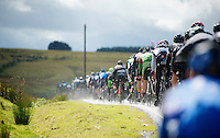 peloton round the bend<br /> <br /> 2013 Tour of Britain<br /> stage 5: Machynlleth to Caerphilly (177km)