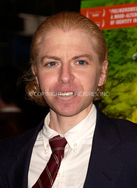 WWW.ACEPIXS.COM . . . . . ....NEW YORK, APRIL 5, 2005....Matthew Faber at the 'Palindromes' premiere held at the Chelsea West Theater.....Please byline: KRISTIN CALLAHAN - ACE PICTURES.. . . . . . ..Ace Pictures, Inc:  ..Craig Ashby (212) 243-8787..e-mail: picturedesk@acepixs.com..web: http://www.acepixs.com