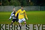 Classic FC's Kieran O'Regan and St Bernard's FC's Hughie Keenan.
