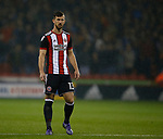 Jake Wright of Sheffield Utd during the Championship match at the Bramall Lane Stadium, Sheffield. Picture date 27th September 2017. Picture credit should read: Simon Bellis/Sportimage