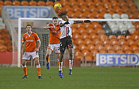 Blackpool's Oliver Turton and Charlton Athletic's Joe Aribo<br /> <br /> Photographer Stephen White/CameraSport<br /> <br /> The EFL Sky Bet League One - Blackpool v Charlton Athletic - Saturday 8th December 2018 - Bloomfield Road - Blackpool<br /> <br /> World Copyright &copy; 2018 CameraSport. All rights reserved. 43 Linden Ave. Countesthorpe. Leicester. England. LE8 5PG - Tel: +44 (0) 116 277 4147 - admin@camerasport.com - www.camerasport.com