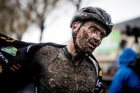 Jim Aernouts' (BEL/Telenet-Baloise Lions) post-race face<br /> <br /> Jaarmarktcross Niel 2019 (BEL)<br /> <br /> ©kramon