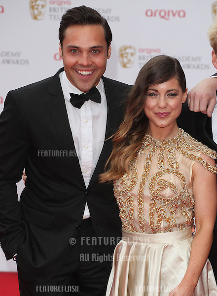Andy Jordan, Louise Thompson arriving for the TV BAFTA Awards 2013, Royal Festival Hall, London. 12/05/2013 Picture by: Alexandra Glen / Featureflash