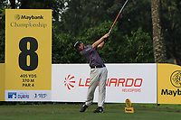 Austin Connelly (CAN) in action on the 8th tee during Round 1 of the Maybank Championship at the Saujana Golf and Country Club in Kuala Lumpur on Thursday 1st February 2018.<br /> Picture:  Thos Caffrey / www.golffile.ie<br /> <br /> All photo usage must carry mandatory copyright credit (&copy; Golffile | Thos Caffrey)