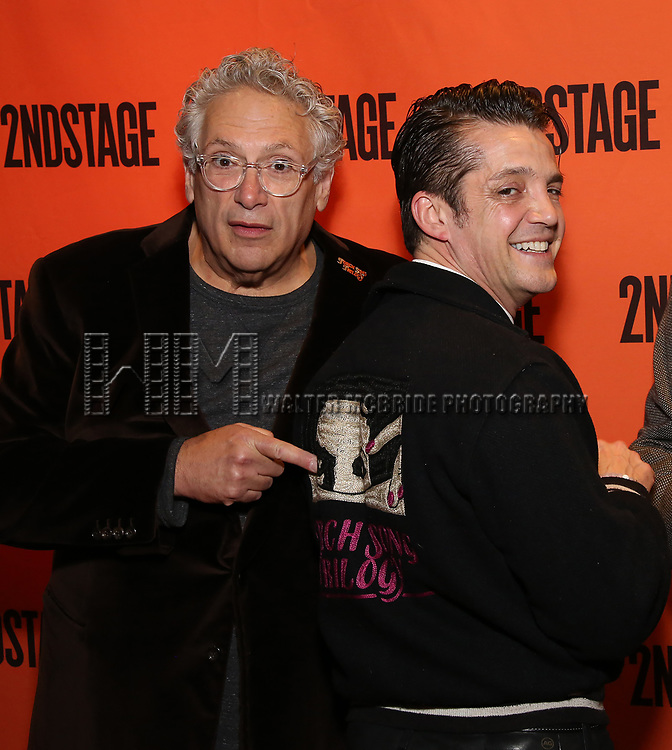 Harvey Fierstein and Jonathan Del Arco attends the Off-Broadway Opening Night performance of the Second Stage Production on 'Torch Song'  on October 19, 2017 at Tony Kiser Theater in New York City.