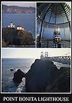 FB 321  Point Bonita Lighthouse.  3 Image 5x7 postcard.  Frank Balthis