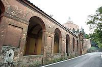 Il Porticato e, sullo sfondo, il Santuario della Madonna di San Luca.<br /> The arcade and the sanctuary of the Madonna di San Luca, in background, in Bologna.<br /> UPDATE IMAGES PRESS/Riccardo De Luca