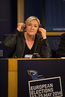 Marine Le Pen at the EU Parliament in Brussels - Belgium