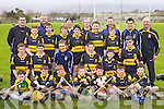 The combined  Dr Crokes / Laune Rangers  U-14 hurling team who competed at the Feile na Gael blitz at Caherslee on Saturday..Front rom ( L to  R ) :- Ger Murphy,Denis Fleming,Eric Dunlea,Michael Buckley,Jack Lenihan, Mike Casey,Jack Murphy..Second Row (L to R):- Laurence Byrnes,John Billow,Ciaran Twiss,Tim.Foley,Shane Hanafin, Jerome O'Connor..Third Row:- ( L to R) :- Johnny O'Leary,Aaron Murphy,Conor McSharry,John.Ivory, Ivan Hurley,Dara Carmody,Shane Daly..Back Row:- ( L to R) :- Sean Browne, Damien Quigg, Dave Murphy, John Ivory,.Emmet Murphy, John Lenihan..