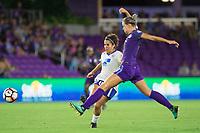 Orlando, FL - Saturday September 02, 2017: Angela Salem, Alanna Kennedy during a regular season National Women's Soccer League (NWSL) match between the Orlando Pride and the Boston Breakers at Orlando City Stadium.