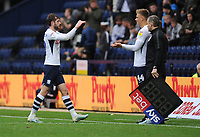 Preston North End's Brad Potts replaces Tom Barkhuizen<br /> <br /> Photographer Kevin Barnes/CameraSport<br /> <br /> The EFL Sky Bet Championship - Preston North End v Barnsley - Saturday 5th October 2019 - Deepdale Stadium - Preston<br /> <br /> World Copyright © 2019 CameraSport. All rights reserved. 43 Linden Ave. Countesthorpe. Leicester. England. LE8 5PG - Tel: +44 (0) 116 277 4147 - admin@camerasport.com - www.camerasport.com