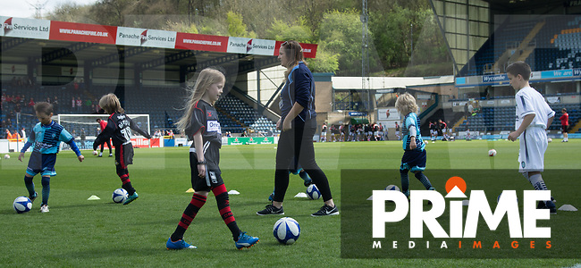 Mascots for the game against Doncaster Rovers during the Sky Bet League 2 match between Wycombe Wanderers and Doncaster Rovers at Adams Park, High Wycombe, England on 22 April 2017. Photo by James Williamson / PRiME Media Images.
