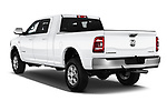 Car pictures of rear three quarter view of a 2019 Ram 2500 Laramie 4 Door Pick Up angular rear