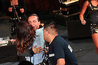 Cristian Castro durante su presentacion en el redondel del palenque d ela expogan 2015