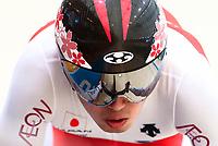 Picture by Alex Whitehead/SWpix.com - 10/12/2017 - Cycling - UCI Track Cycling World Cup Santiago - Velódromo de Peñalolén, Santiago, Chile - Japan's Yuta Wakimoto in action during the Men's Sprint qualifying.