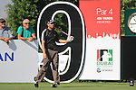 Sergio Garcia tees off on the 9th tee during Day 1 of the Dubai World Championship, Earth Course, Jumeirah Golf Estates, Dubai, 25th November 2010..(Picture Eoin Clarke/www.golffile.ie)