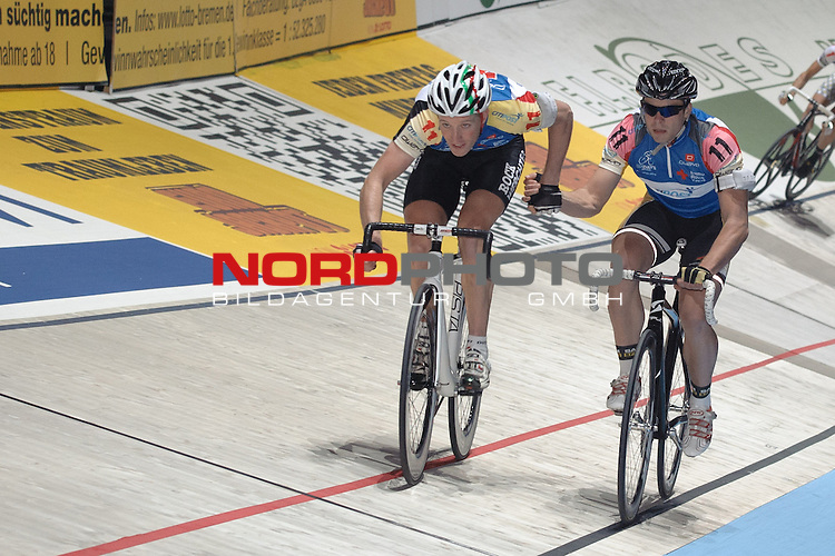 10.01.2014, &Ouml;VB Arena, Bremen, GER, Sixdays Bremen, im Bild Nicky Cocquyt / Tino Th&ouml;mel (Team Citipost #11)<br /> <br /> Foto &copy; nordphoto / Frisch