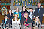 Glenflesk NS student's front row l-r: Daniel O'Brien, Jennifer Murphy, Bishop Bill Murphy, Helen Cronin. Back row: Leah Lynch, Connie Lynch, Roisin Kelleher, Tommy Counihan and John O'Donoghue Principal who was confirmed at St Agatha's church Glenflesk on Thursday