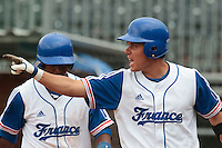 27 july 2010: Boris Marche reacts after a base hit during France 8-2 victory over Belgium, in day 5 of the 2010 European Championship Seniors, in Stuttgart, Germany.