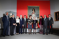 Fernando Martinez de Irujo, Cayetana Martinez de Irujo, Carlos Martinez de Irujo, Madrid Regional President Ignacio Gonzalez, Queen Sofia of Spain, Duchess of Alba, Madrid's major Ana Botella, Spain's Minister for Education, Culture and Sport Jose Ignacio Wert Ortega and Alfonso Diez attend 'El Legado Casa de Alba' Art exhibition at the Palacio de Cibeles . December 18, 2012. (ALTERPHOTOS/Caro Marin) /NortePHOTO