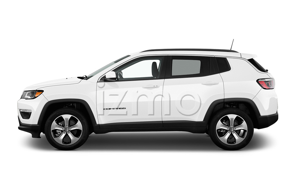 Car Driver side profile view of a 2017 JEEP Compass Latitude 5 Door SUV Side View