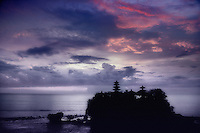 Tanah Lot Temple at dusk Bali Indonesia.