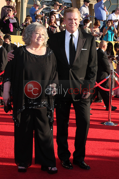 Kathy Bates, Christopher McDonald<br /> at the 18th Annual Screen Actors Guild Awards Arrivals, Shrine Auditorium, Los Angeles, CA 01-29-12<br /> David Edwards/DailyCeleb.com 818-249-4998