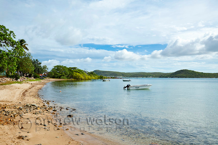 View along Bach Beach.  Thursday Island, Torres Strait Islands, Queensland, Australia