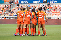 Houston, TX - Sunday July 28, 2019: NWSL regular season match between the Houston Dash and Sky Blue FC at BBVA Stadium.