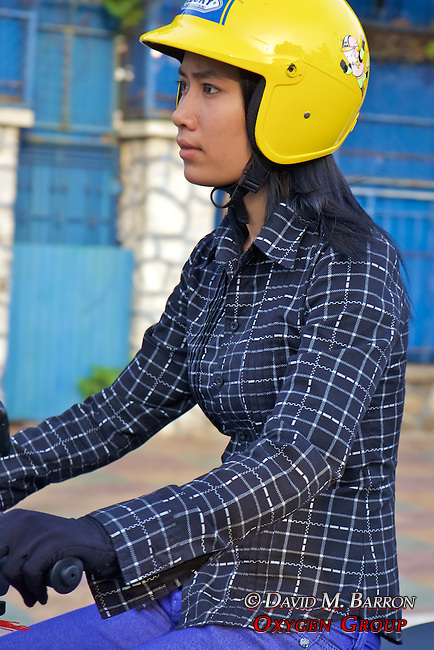 Woman On Motobike