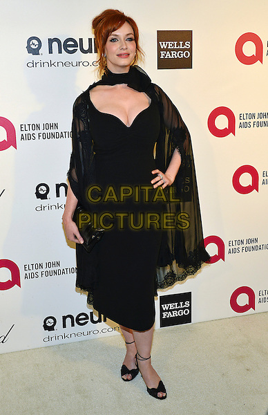 02 March 2014 - West Hollywood, California - Christina Hendricks. 22nd Annual Elton John Academy Awards Viewing Party held at West Hollywood Park.  <br /> CAP/ADM/CC<br /> &copy;ChewAdMedia/Capital Pictures