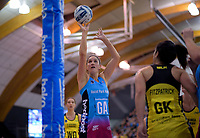 Te Paea Selby-Rickit shoots during  the ANZ Premiership netball grand final between the Central Pulse and Southern Steel at Arena Manawatu in Palmerston North, New Zealand on Sunday, 12 August 2018. Photo: Dave Lintott / lintottphoto.co.nz