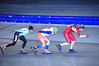 SCHAATSEN: HEERENVEEN: Thialf, 07-06-2012, Zomerijs, Linda de Vries, Pien Keulstra, Annouk van der Weijden, Team Pursuit training, ©foto Martin de Jong