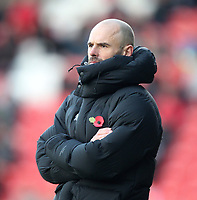 Rotherham United's Manager Paul Warne <br /> <br /> Photographer Mick Walker/CameraSport<br /> <br /> The EFL Sky Bet League One - Doncaster Rovers v Rotherham United - Saturday 11th November 2017 - Keepmoat Stadium - Doncaster<br /> <br /> World Copyright &copy; 2017 CameraSport. All rights reserved. 43 Linden Ave. Countesthorpe. Leicester. England. LE8 5PG - Tel: +44 (0) 116 277 4147 - admin@camerasport.com - www.camerasport.com