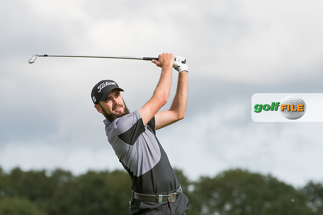 Troy Merritt (USA) in action on the 7th hole during the 2nd round at the KLM Open, The International, Amsterdam, Badhoevedorp, Netherlands. 13/09/19.<br /> Picture Stefano Di Maria / Golffile.ie<br /> <br /> All photo usage must carry mandatory copyright credit (© Golffile | Stefano Di Maria)