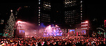 Travel stock photo of New Year 2008 celebration show in Toronto Nathan Philips Square Ontario Canada Panoramic photo