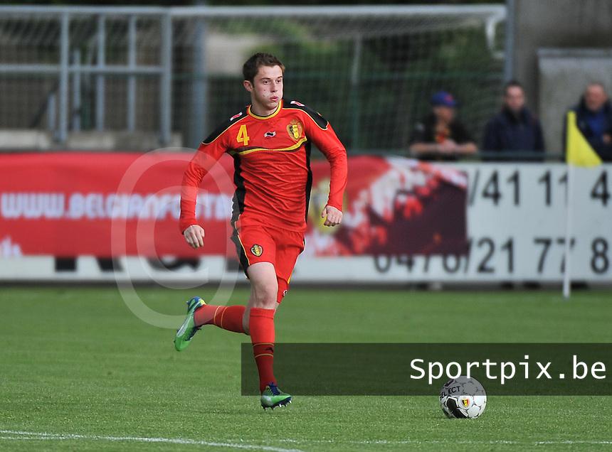 Scotland U19 - Belgium U19 : Corentin Fiore.foto DAVID CATRY / Nikonpro.be