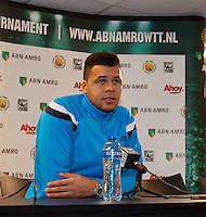 10-02-14, Netherlands,Rotterdam,Ahoy, ABNAMROWTT,, , Press Conference with Tsonga<br /> Photo:Tennisimages/Henk Koster