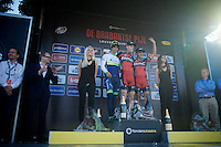 1/ Ben Hermans (BEL/BMC)<br /> 2/ Michael Matthews (AUS/Orica-GreenEDGE)<br /> 3/ Philippe Gilbert (BEL/BMC)<br /> <br /> 55th Brabantse Pijl 2015