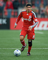 Pablo Vitti of Toronto FC in his first home game during MLS action against the Seattle Sounders FC at BMO Field on April 4, 2009. Seattle won 2-0.