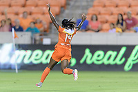 Houston, TX - Saturday July 22, 2017: Nichelle Prince celebrates her goal during a regular season National Women's Soccer League (NWSL) match between the Houston Dash and the Boston Breakers at BBVA Compass Stadium.