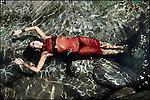 Val Versasca, le 4 août 2011, Swan Oberson, championne du monde de natation en eau libre. © sedrik nemeth