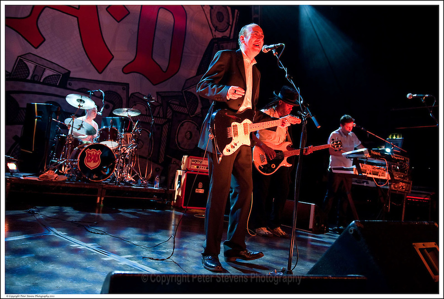 Greg Roberts, Mick Jones, Leo 'E-Zee Kill' Williams &amp; Dan Donovan -<br /> <br /> Big Audio Dynamite perform at the Shepherds Bush Empire on the 2nd April 2011