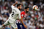 Diego Costa of Atletico de Madrid (R) in action during their La Liga  2018-19 match between Real Madrid CF and Atletico de Madrid at Santiago Bernabeu on September 29 2018 in Madrid, Spain. Photo by Diego Souto / Power Sport Images